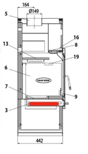 Haas+Sohn Inzell easy 350.15 Aschekasten