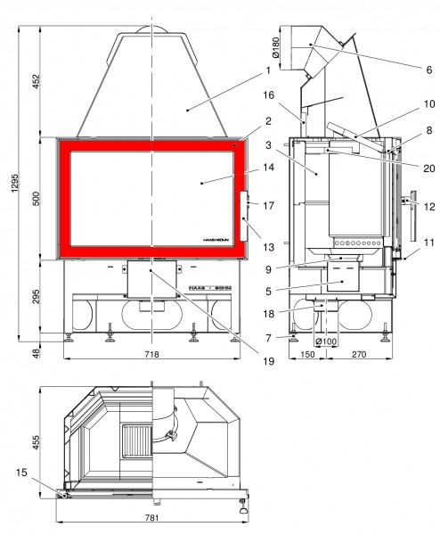 Haas+Sohn Komfort III 180.18 Feuerraumtür