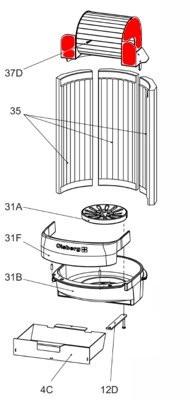 Olsberg Tipas 1 Wirbelbrennkammer