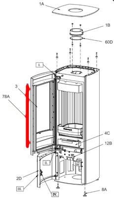Olsberg Fuego Compact Feuerraum Türgriff