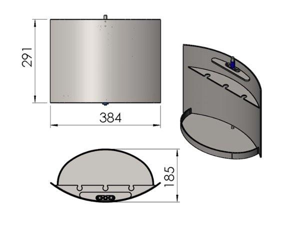 Termatech TT20 Tür für Holzfach grau