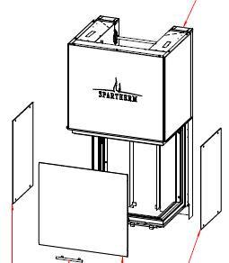 Spartherm Arte 3RL-60h fenêtre latérale droit