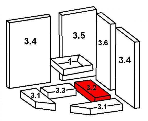Oranier Skandik 8 Bodenstein hinten rechts B