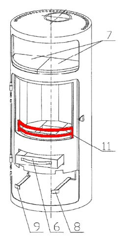 Oranier Troll Stehrost grau Holzfang Rostrehling