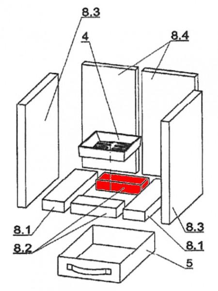 Oranier Nordik Bodenstein hinten A liegender Brennraumstein