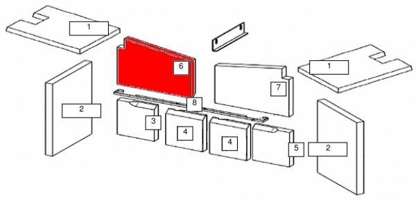Wamsler Vision Rückwandstein links oben